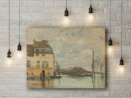 Alfred Sisley: Flood at Port-Marly. Fine Art Canvas.